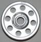 90mm Billet Aluminum Double Bearing Idler Pulley  - Product Image