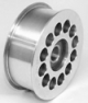 100 mm Billet Aluminum Rib idler Pulley with Flange - Product Image